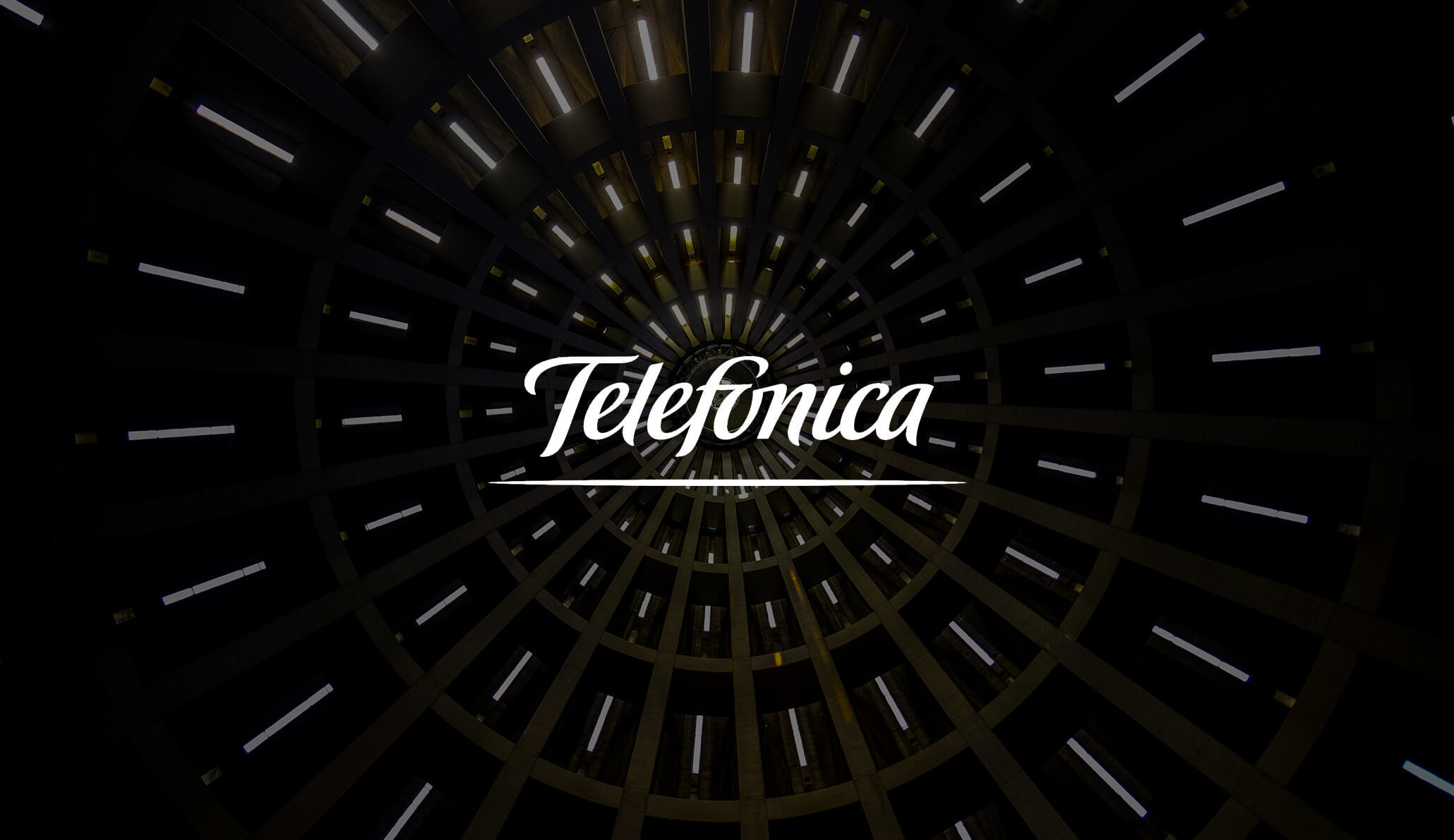 Telefonica logo on a black background